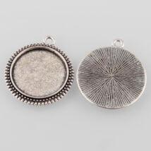 Pöttyös szélű medál alap ezüst  20mm-es lencséhez