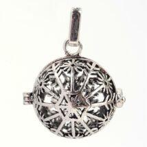 Hópelyhes angyalhívó antikolt ezüst színű