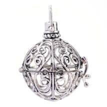 Indás angyalhívó antikolt ezüst színű