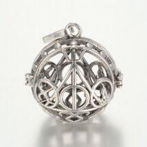 Halál ereklyéi mintás angyalhívó antikolt ezüst színű