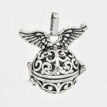 Szárnyas angyalhívó antik ezüst színű