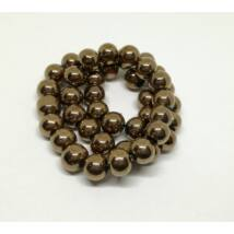 Metál gömb gyöngy 8mm bronz 10db