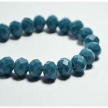 Opál abacus gyöngy 8x6mm farmerkék 10db