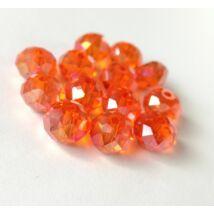 Színjátszós abacus gyöngy 8x6mm narancs 10db