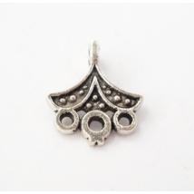 Kis legyező összekötő ezüst