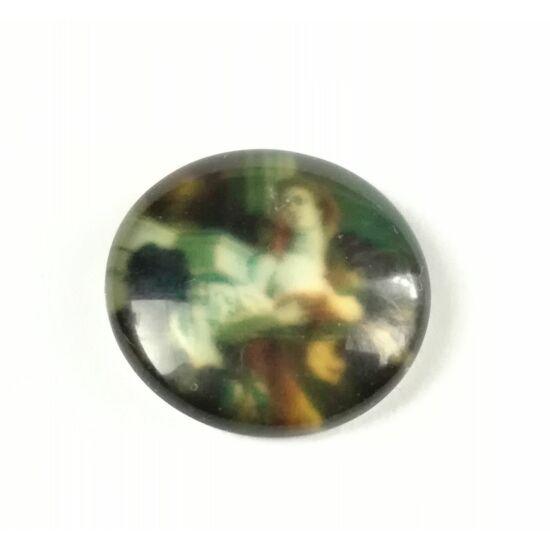 Női mintás üveglencse 18mm