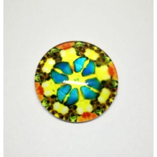 Mozaik mintás üveglencse 20mm