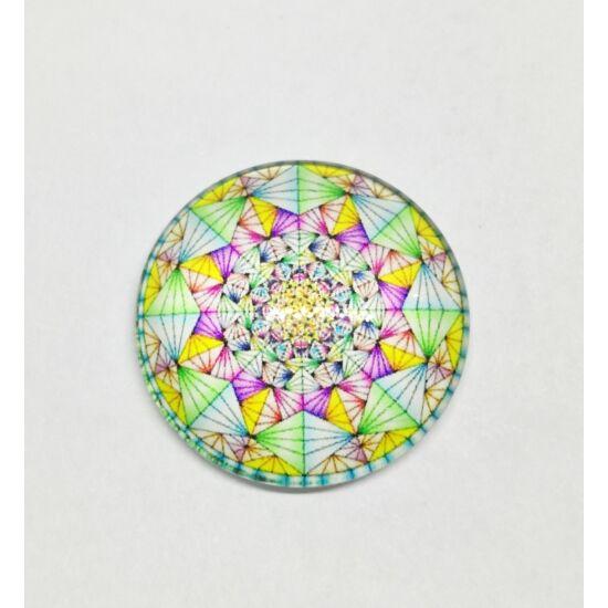 Mozaik mintás üveglencse 25mm