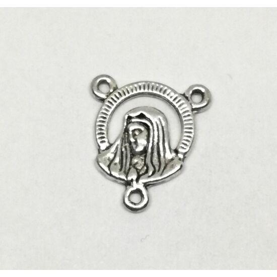 Rózsafüzér összekötő antikolt ezüst színű