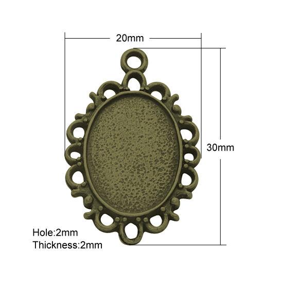 Csipkés szélű medál alap 18x13mm-es lencséhez-Nikkelmentes