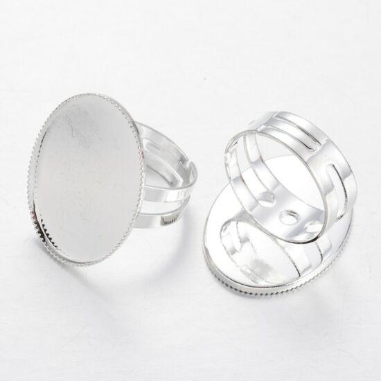 Gyűrű alap 18x25mm-es lencséhez ezüst színű