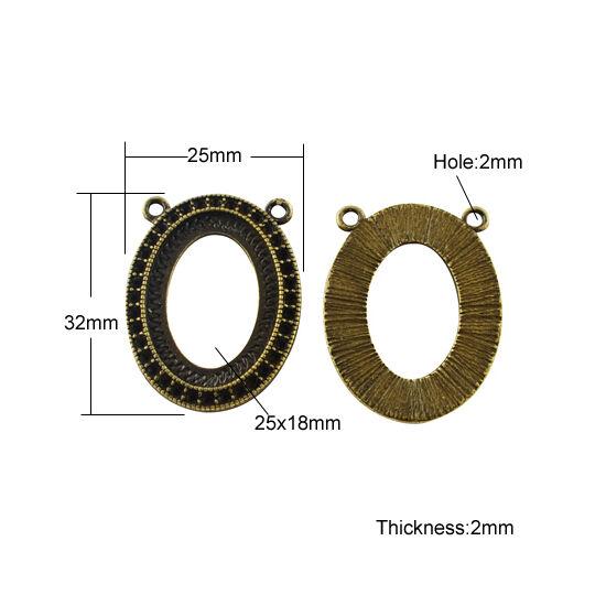 Strasszal kirakható szélű medál alap 18x25mm-es lencséhez-Nikkelmentes