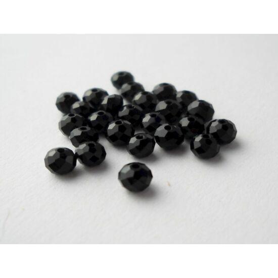 Abacus gyöngy 4x3mm fekete 25db