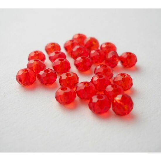 Abacus gyöngy 6x5mm piros 20db