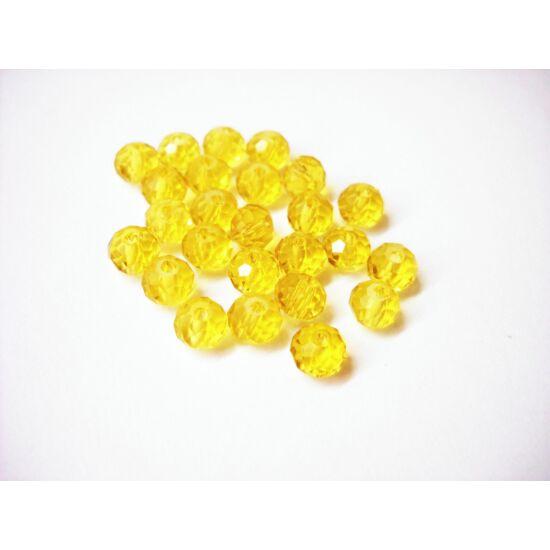 Abacus gyöngy 6x5mm sárga 20db