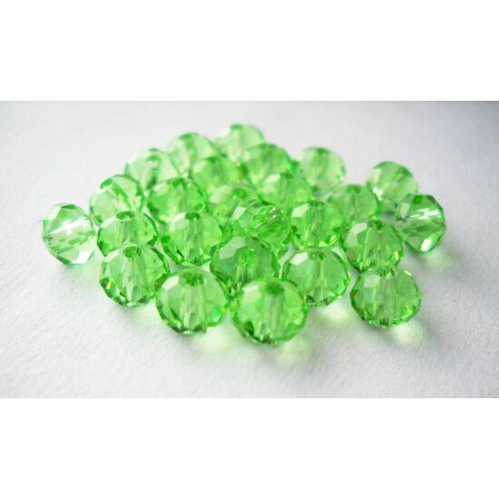 Abacus gyöngy 4x3mm világos zöld 25db