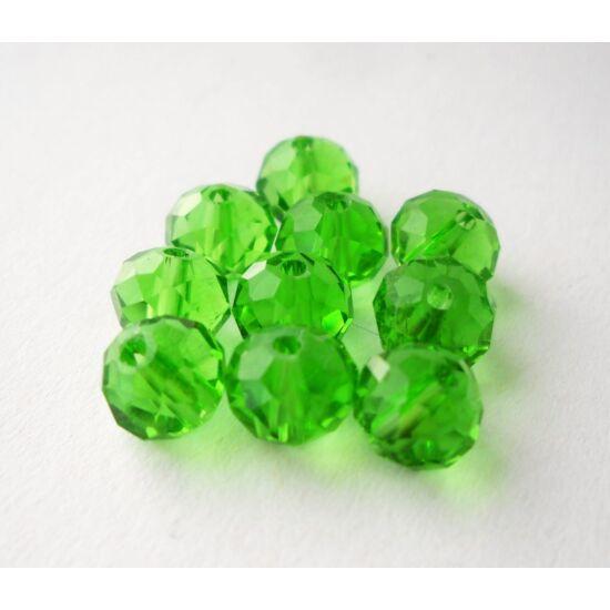 Abacus gyöngy 8x6mm zöld 10db