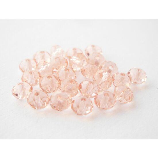 Abacus gyöngy 4x3mm rózsaszín 25db