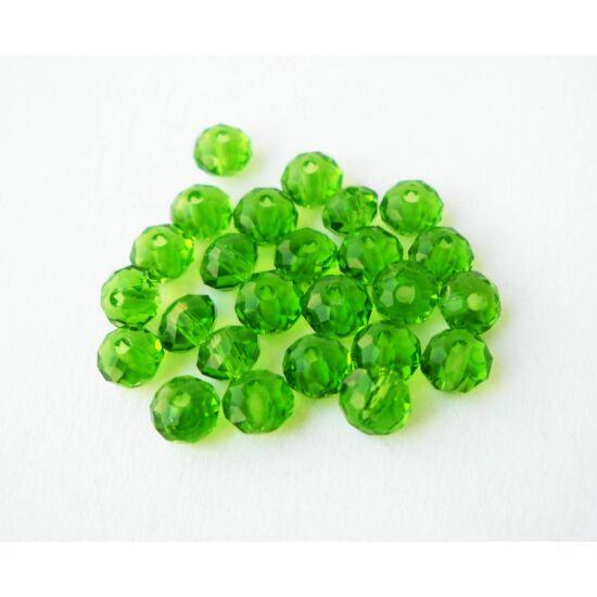 Abacus gyöngy 4x3mm zöld 25db