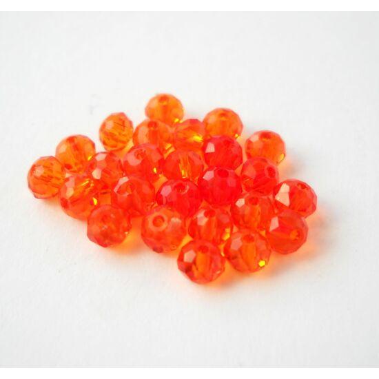 Abacus gyöngy 6x5mm narancssárga 20db