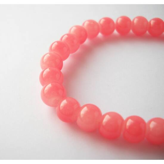 Gömb gyöngy 6mm  20db rózsaszín