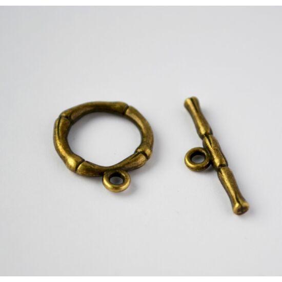 Bambuszos t-kapocs bronz