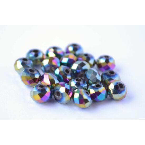 Metál abacus gyöngy 6x4mm 20db színjátszó