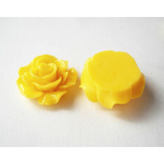 Resin rózsa cabochon sárga
