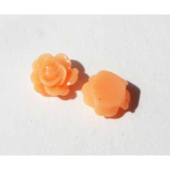 Resin rózsa cabochon  világos barack