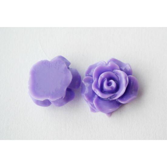 Resin rózsa cabochon lila