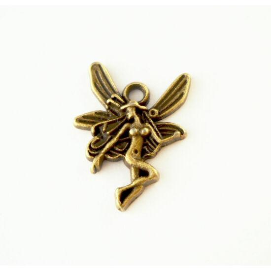 Szálló tündér charm bronz -Nikkelmentes