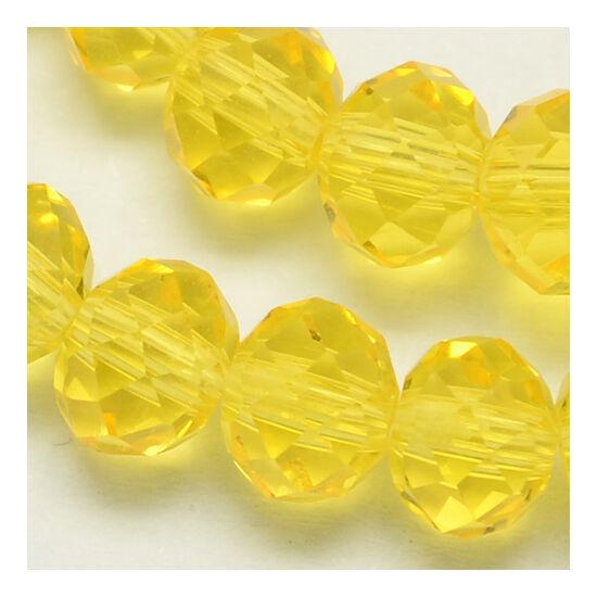 Abacus gyöngy 4x3mm sárga füzérben