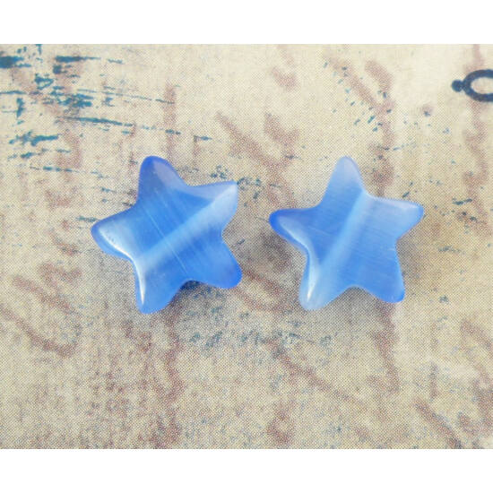 Csillag gyöngy 10mm kék 1db