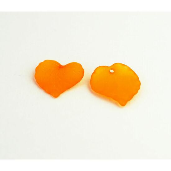 Akril levél narancs