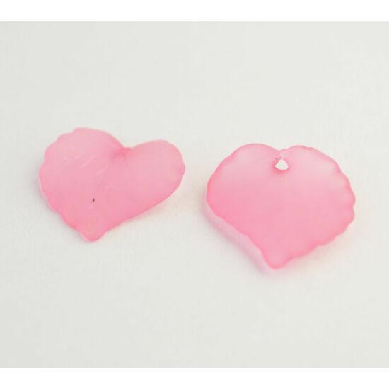 Akril levél rózsaszín