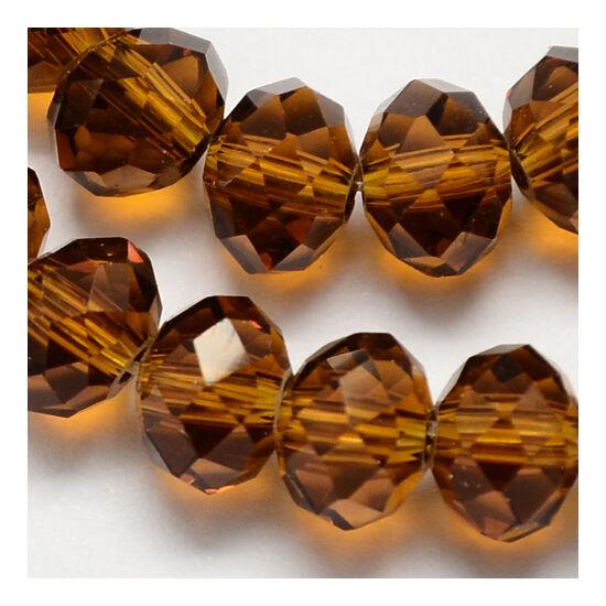 Abacus gyöngy 6x5mm sötét borostyán 20db