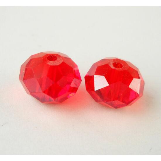 Abacus gyöngy 10x7mm piros 1db