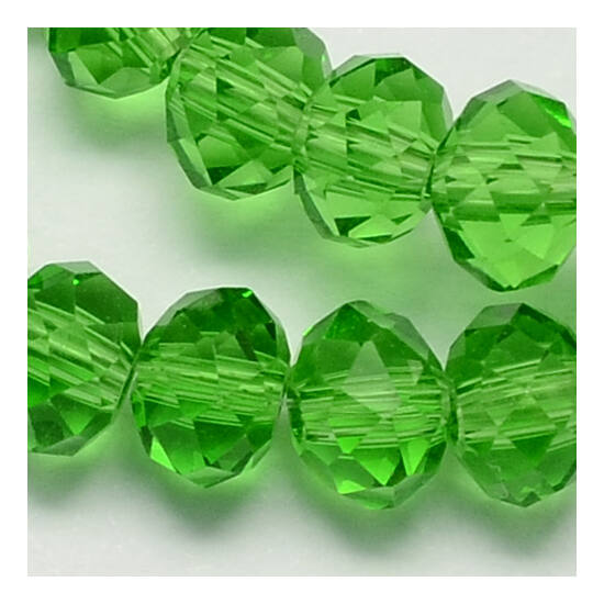 Abacus gyöngy 6x5mm zöld füzérben