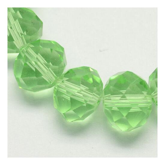 Abacus gyöngy 8x6mm világos zöld 10db