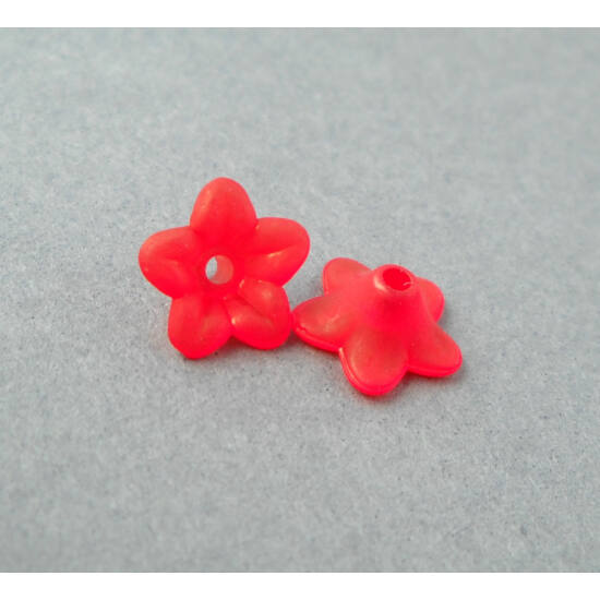 Akril petúnia virágkehely piros