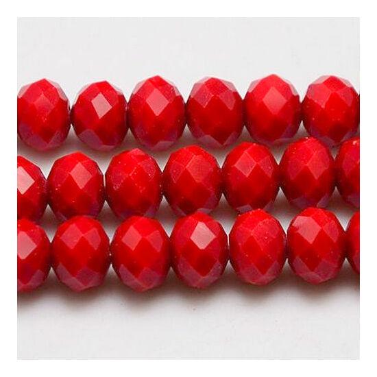 Opál abacus gyöngy 3,5x2,5mm piros 25db