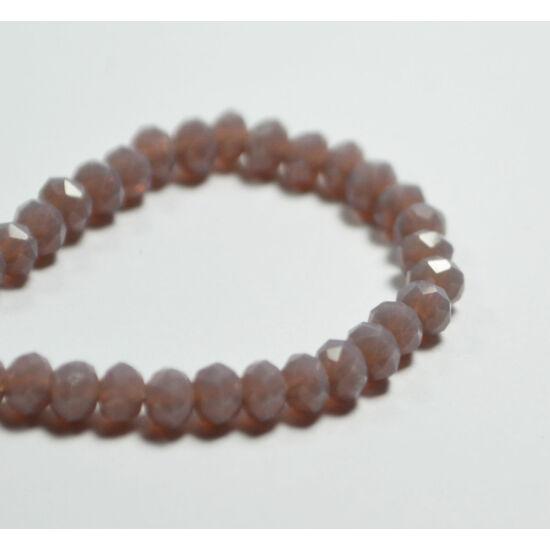 Opál abacus gyöngy 3,5x2,5mm pasztell lila 25db