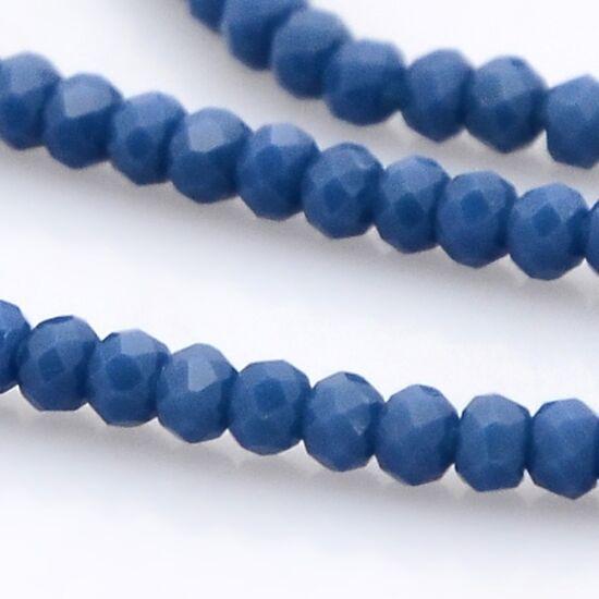 Opál abacus gyöngy 3x2mm farmerkék 25db