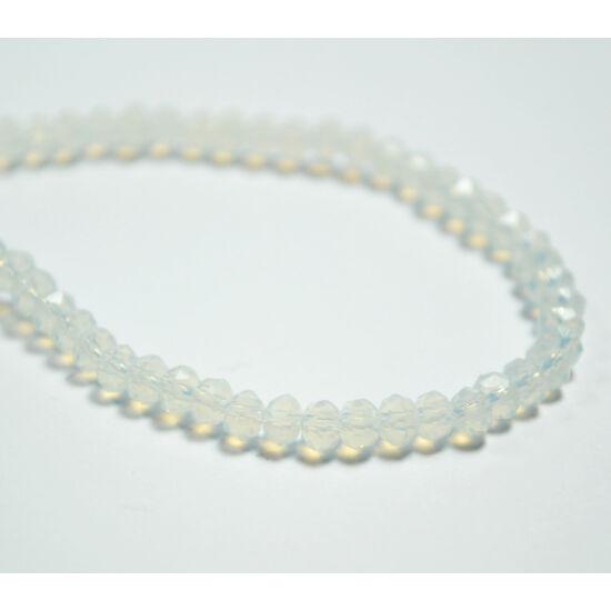 Opál abacus gyöngy 3,5x2,5mm áttetsző fehér 25db