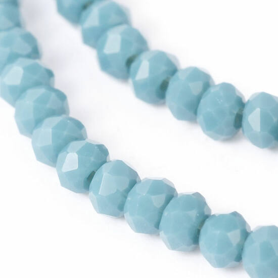 Opál abacus gyöngy 4x3mm világos kék 25db