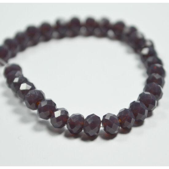 Opál abacus gyöngy 4x3mm sötét lila 25db