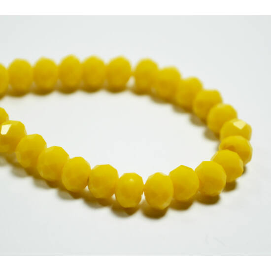Opál abacus gyöngy 6x4mm sárga 20db