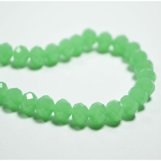 Opál abacus gyöngy 6x4mm világos zöld 20db