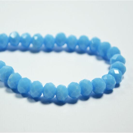 Opál abacus gyöngy 6x4mm világos kék 20db