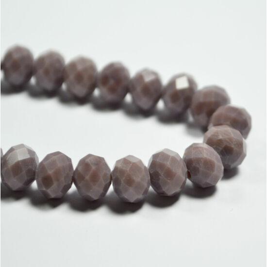 Opál abacus gyöngy 8x6mm lila 10db